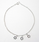 A49 Silver star of david anklet