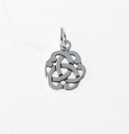 CM50 Silver Celtic Flower Charm