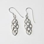 E100 Silver Elegant Celtic Earrings