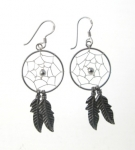 E103 Silver Dreamcatcher earrings