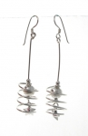 E117  long drop earrings 53x14