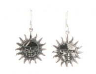 E13  Silver sun earrings 20x20