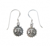 E130 Sun face earrings