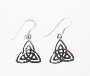 E148 Celtic triangle earrings