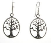 E149 Silver tree of life earrings
