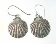 E15 Sterling Silver Seashell Earrings