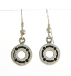 E150 Detailed circle earrings