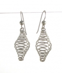 E152 spiral bead cage earrings