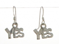E158 ''Yes'' earrings