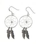 E185 Large dreamcatcher earrings