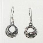 E191 Filigree Drop Ball Earrings