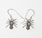 E33 Silver Spider Earrings