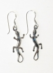 E4 Silver Gecko Earrings