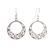E51 Celtic earrings 22mm x 22mm