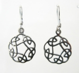 E53 Celtic Circle Earrings