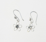 E60 Daisy with crystal earrings