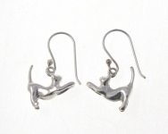 E65 Silver cat earrings