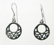 E69 Celtic outline earrings