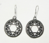 E79 Star of David Earrings