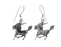 E8 Galloping unicorn earrings