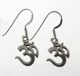 E93A Silver Ohm Earrings
