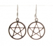 E94 Sterling Silver Pentagram Earrings