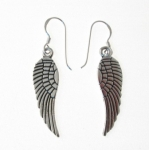 E97 Silver Angel Wing Earrings