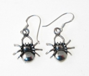 E99 Silver Spider Earrings