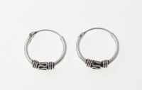 H11 Silver balinese hoops (pack of 5 pairs)