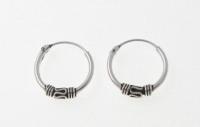 H11 Silver balinese hoops (pack of 5 pairs)