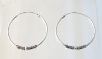 H2 Silver Balinese Hoops