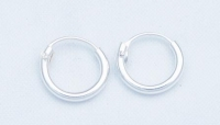 H33-5 pairs silver hoops