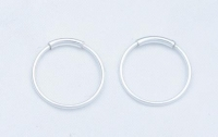 H34-5 pairs Silver hoops