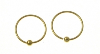 H34G Gold plated hoop ( pack of 5 pairs )