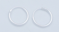 H35- 5 pairs Silver hoops