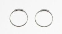 H36- 5 pairs Plain hoop (nose ring)