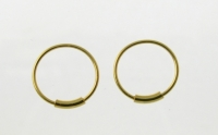H36G 5 pairs of Gold Plated Silver Hoops.