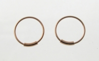 H36R 5 pairs of Rose Gold Plated Silver Hoops.