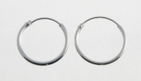 H36a- 5 pairs Silver hoops