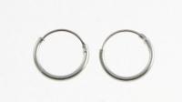 H37-5 pairs Silver plain hoop