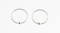 H37a- 5 pairs silver Nose ring