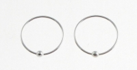 H37b -5 pairs Silver Nose ring