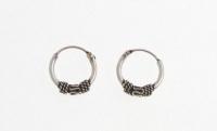 H46-5 pairs Silver balinese hoops