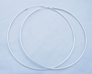 H51  Very Large silver hoops