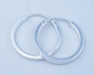 H54  silver hoops