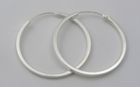 H55  Square edged silver hoop