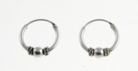 H71- 5 pairs Balinese hoops