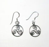 E162 Triskele Circle Earrings