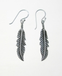 E108 Silver Feather Earrings