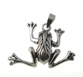 P356 Moving Frog Pendent
